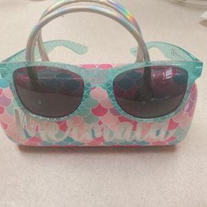Girls mermaid sunglasses with case